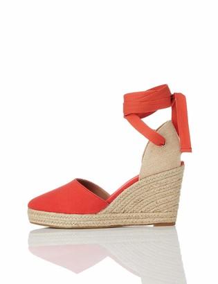 Find. Amazon Brand Women's Closed Toe Canvas Espadrille Wedge Sandal Black) US 7