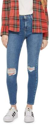 Topshop MOTO Ripped Jamie Jeans 30-Inch Leg