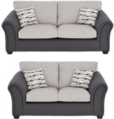 Quartz Fabric Standard 3 Seater + 2 SeaterStandard Back Compact Sofa Set (Buy and SAVE!)