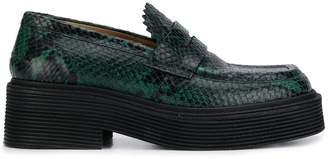 Marni snakeskin print loafers