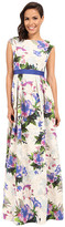 Adrianna Papell Tropical Floral Ball Dress