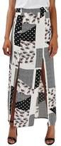 Topshop Women's Patch Print Split Maxi Skirt
