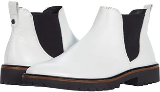 Ecco Incise Tailored Chelsea Boot (Bright White) Women's Shoes