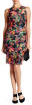 GUESS Floral Mesh Stripe Shift Dress