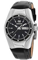 Technomarine Black & Silvertone Silicone Cruise Bracelet Watch