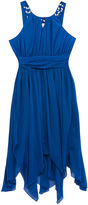 Rare Editions Cobalt Embellished U-Neck Dress - Girls 7-16