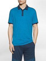 Calvin Klein Mens Performance Heathered Polo Shirt