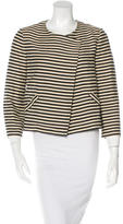 Elizabeth and James Striped Asymmetric Jacket