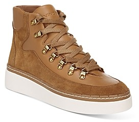 womens tan high top sneakers