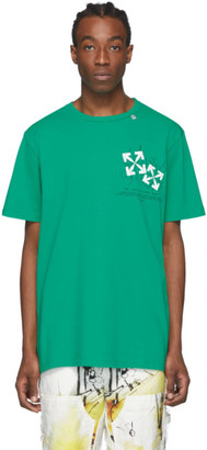 Off-White Green Fence Arrows T-Shirt