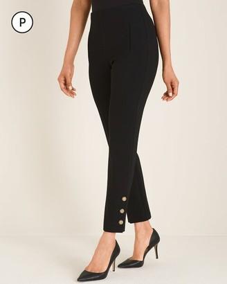 So Slimming Petite Juliet Button-Hem Ankle Pants