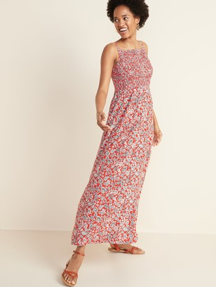 Old Navy Floral-Print Smocked-Top Maxi Sundress for Women