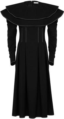 REJINA PYO Faye black ruffled cotton dress