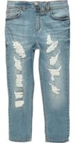 River Island Boys mid blue ripped Dylan slim fit jeans
