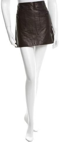 Chanel 2015 Leather Mini Skirt w/ Tags