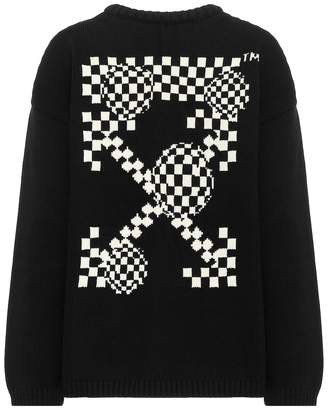 Off-White Off White Intarsia cotton-blend sweater