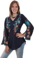 Scully Peacock Embroidered Blouse