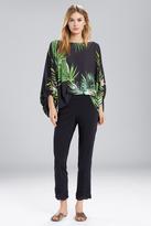 Natori Orchid Poet Sleeve Top