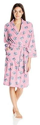 Jockey Women's Microfleece Printed Robe