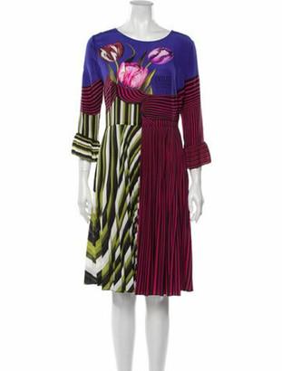Mary Katrantzou Striped Knee-Length Dress Purple