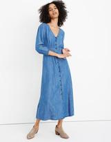 Madewell Denim Pieced-Waist Midi Dress in Mariden Wash