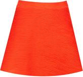 Topshop Orange Ottoman Skater Skirt