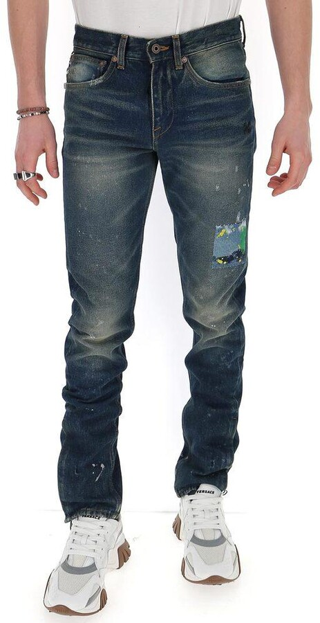 Off-White Paint Detail Jeans