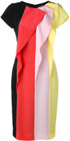 Capucci stripe panel dress - women - Silk/Polyester/Spandex/Elastane/Viscose - 42