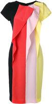 Capucci stripe panel dress - women - Spandex/Elastane/Acetate/Viscose/Polyester - 42