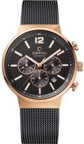 Obaku V180GCVBMB Men's Dial Classic Chronograph Watch with 3 Hands