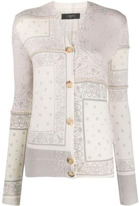 Amiri Bandana V-neck cardigan