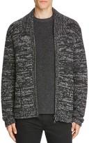 Vince Marled Wool Zip Cardigan Sweater