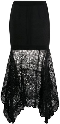 Alexander McQueen Patchwork Lace Knitted Skirt