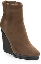 Calvin Klein Delia Suede/Shearling Wedge Ankle Boots