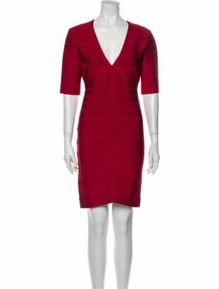 Herve Leger Andrea Mini Dress Red