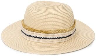 ZEUS + DIONE Embroidered Band Panama Hat
