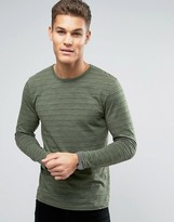 Esprit Long Sleeve Top with Fine Broken Stripe