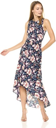 Nicole Miller Women's high Low Maxi Dress with Back Cut Out