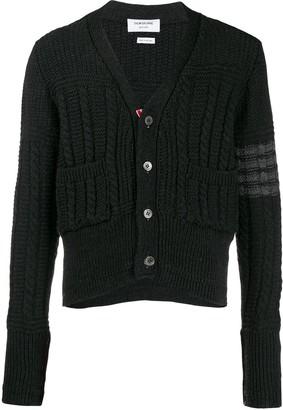 Thom Browne Aran knit cardigan