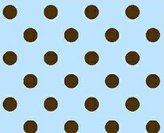Stokke SheetWorld Fitted Oval Mini) - Brown Polka Dots Blue Woven - Made In USA - 58.4 cm x 73.7 cm ( 23 inches x 29 inches)