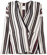 Forte Forte multi striped jacket - women - Linen/Flax/Polyamide/Viscose/Virgin Wool - 2