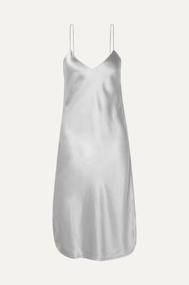 Nili Lotan Silk-charmeuse Dress - Stone