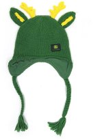 John Deere Knit Beanie Hat With Deer Antlers