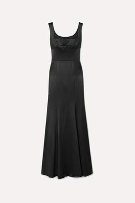 Dolce & Gabbana Stretch Silk-blend Satin Gown - Black