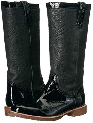 Lucchese All-Weather Waterproof Rain Boot (Black Patent) Women's Rain Boots