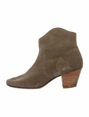 Etoile Isabel Marant Suede Western Boots