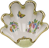 Herend Queen Victoria Green Large Shell Dish