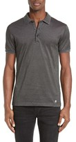 Versace Men's Textured Pique Polo