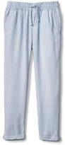 TENCEL railroad stripe pants