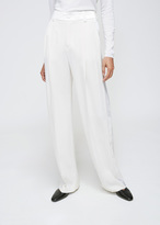 Lanvin Ivory Silk Wide Leg Trouser